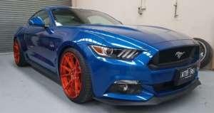 Blue Mustang